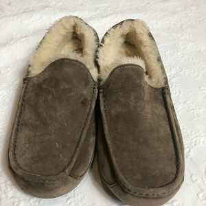 UGG Ascot Tan Suede / Sheepskin Men's Slippers 12